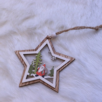 Laser Cut Crafted Non-woven christmas tree ornament, Wooden indoor hanging ornaments Christmas decoration