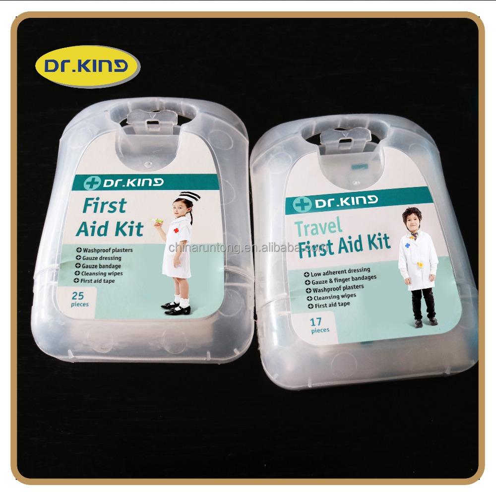Body care mini first aid kit for kids for wound