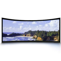 Fixed Curved projection screen/Fixed frame screen/fixed frame projector screen