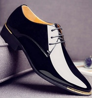 Factory Fashion Newly Men's Quality Soft Leather Shoes White Wedding Men Shoes Leather Men Dress Shoes