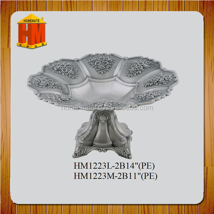 Wedding decoration with color plated metal dry fruit bowl