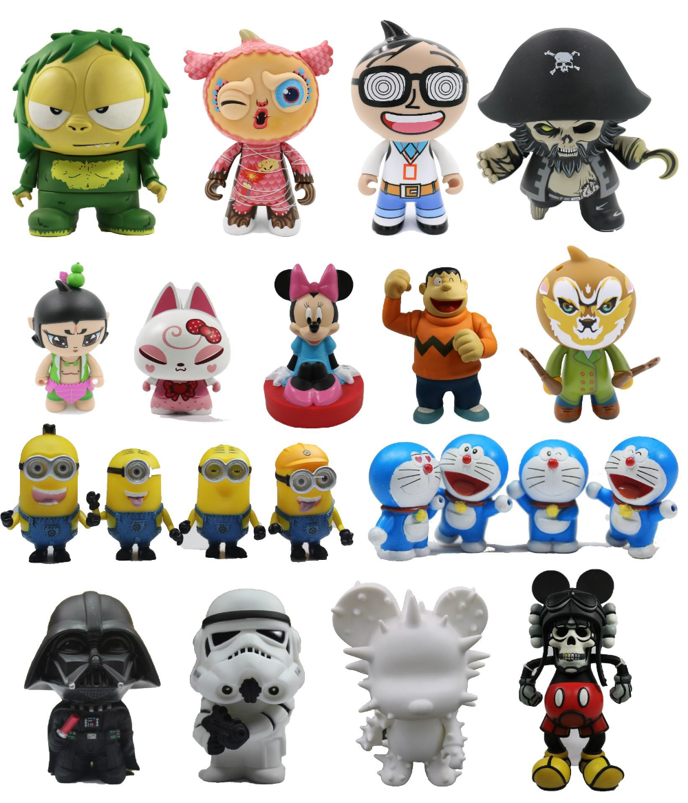 Customized cartoon 3D model poly-resin art and collection figurines