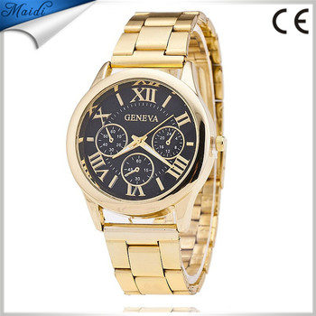 Top Quality Geneva men watches 2016 New Quartz Watches Men Gold Brand  Analog Dial Watches GW026 3243e19c2768