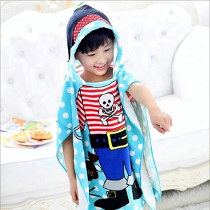Custom Photo Printed Teasure Bath Towel Poncho Kids Hooded Beach Towel