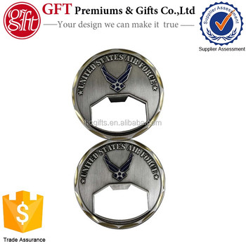 Free Artwork Design Fast Production United States Air Force Bottle Opener  Challenge Coin - Buy United States Air Force Bottle Opener Challenge