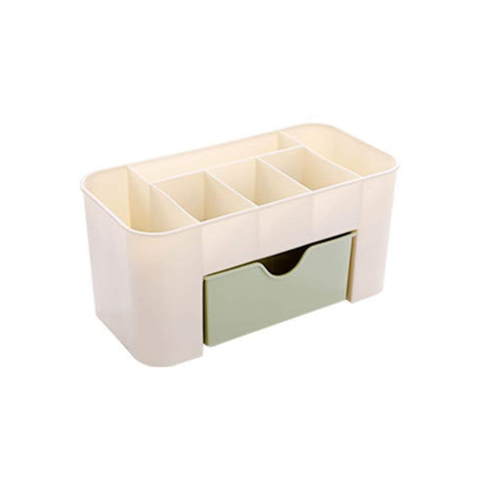 YCDC green Cosmetic Jewelry Storage Drawer, Plastic Makeup Brush Box, Home Office Remote Control Lipstick Holder Cosmetic Jewelry Storage Drawer Plastic Home Office Remote Control Holder
