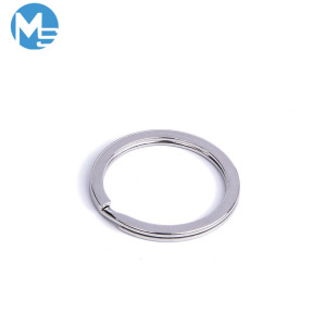 Wholesale keychains keys ring bulk iron round shaped keychain 25mm metal keyring chain split key rings for multiple keys