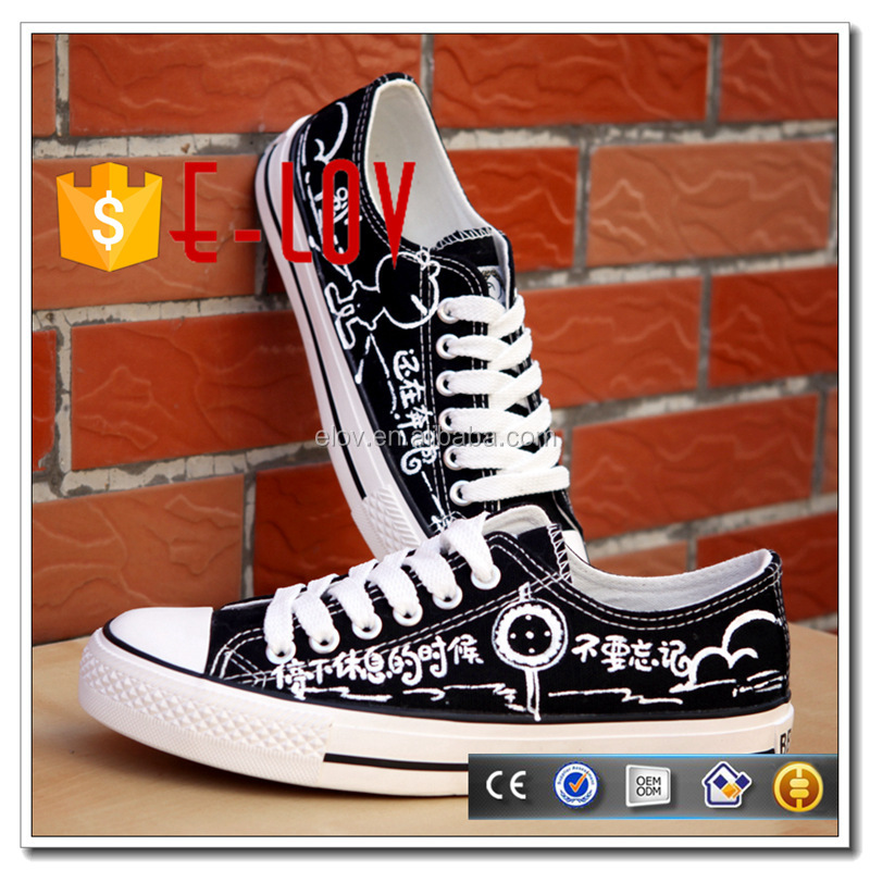 Low price men sport shose white black lace-up sneaker D061H/D062H