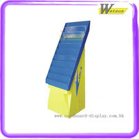 X-mas gift cards in bookshop use carton corrugated display shelf stand