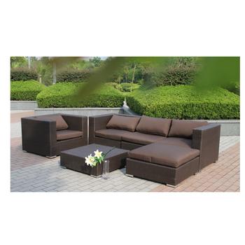 l shape poly rattan sofa garden furniture