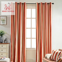 Shaoxing CYR001-O High Quality Polyester Cheap Linen Blackout Curtain For Sale