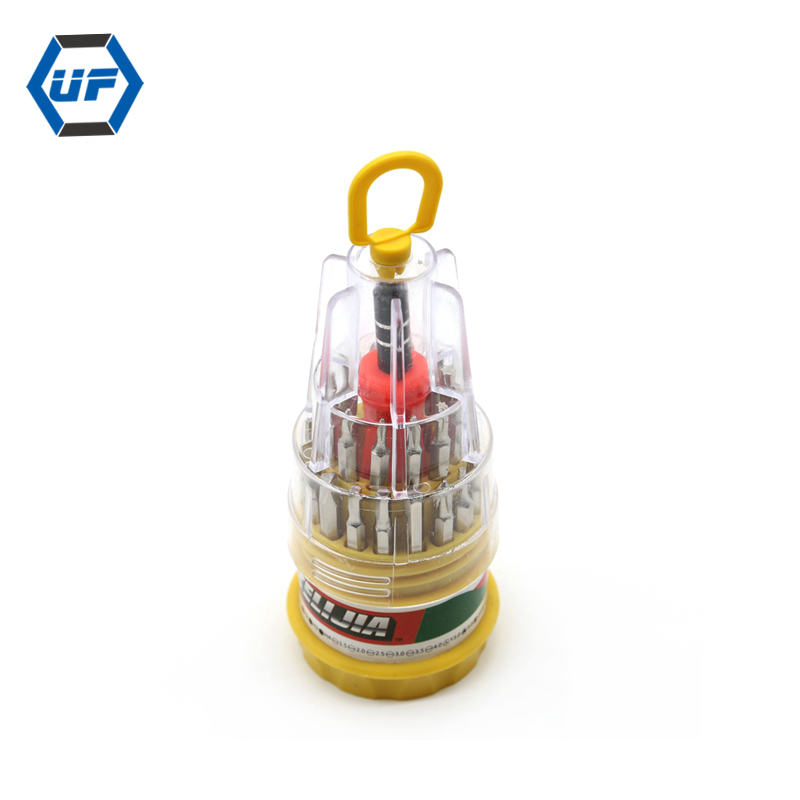 31 in 1 Pocket Precision Electronics Screwdriver Set Computer Mobile phone Maintaining Tools 31pcs Tower Type Screwdriver set