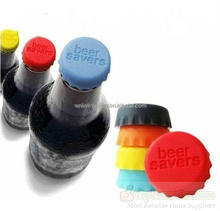 custom Silicone Beer Bottle Caps Stopper,Assorted Colors Silicone Reusable Wine Bottle Cap/Beer Sealer Cover
