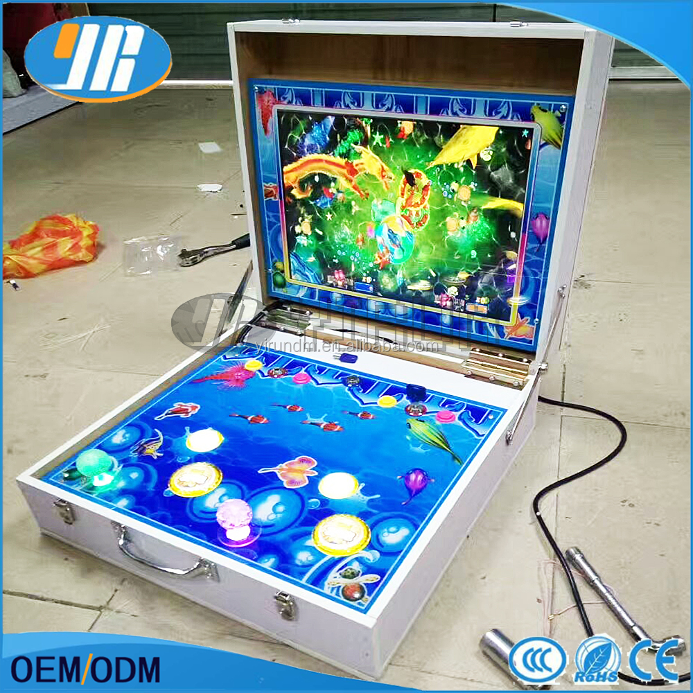 2 Player Mini Arcade Fishing Game Machine Mario Slot Game