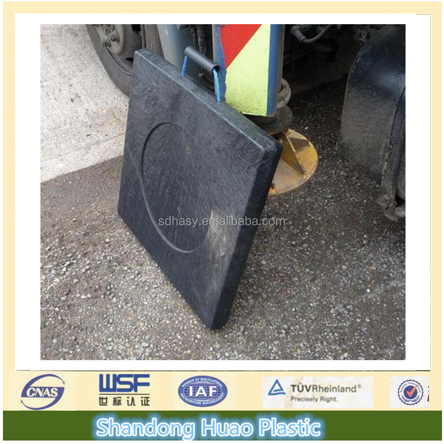 plastic PE crane outrigger pad/crane leg support pads/ temporary roadways manufacturer