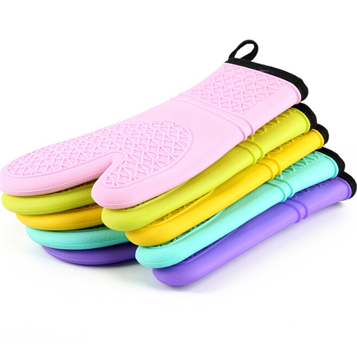 Heat resistance high quality custom logo new products silicone oven gloves oven mitts silicone gloves