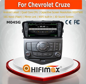 HIFIMAX 7'' For Chevrolet Cruze 2010 (2008-2014) Android 4.4.4 Car Radio Steering Wheel With Rear Camera OBD DVR optional