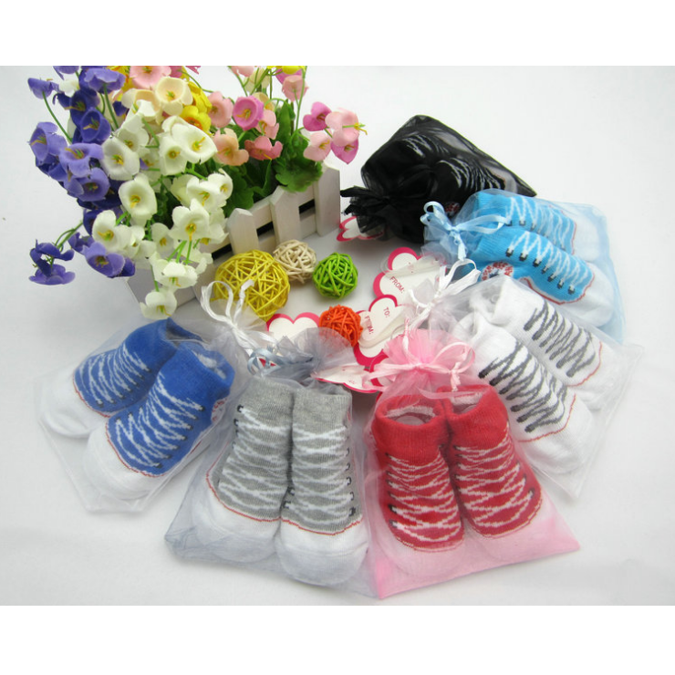 0-12M Baby Sport Socks Infant Girls Sneaker Sock New Year Birthday Gift Cotton Infant Short Socks