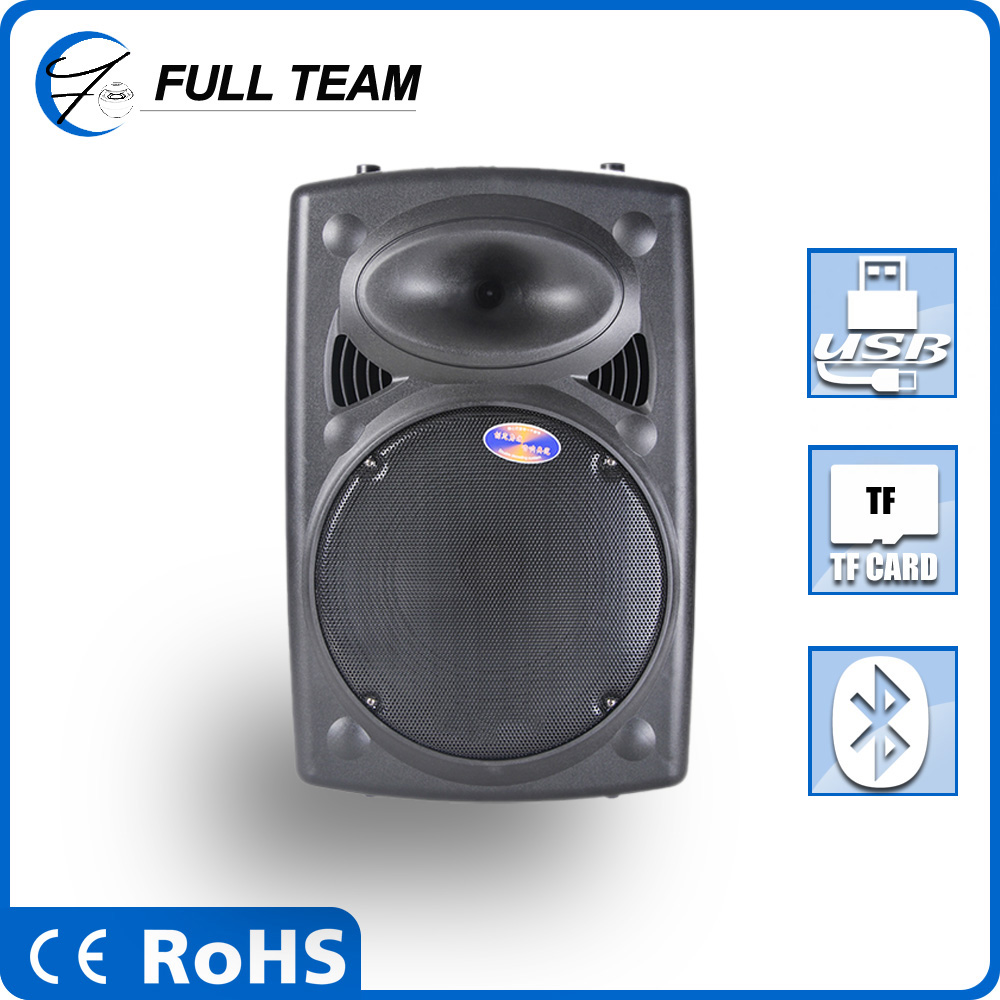 15 inch big stage speaker with bluetooth speaker wireless micphone