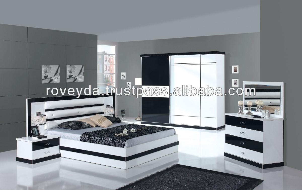 Damla Black Highgloss Whole Bedroom