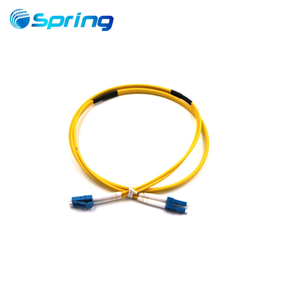 Fiber Optical LC Duplex Flat Twin Fiber Patch Cable