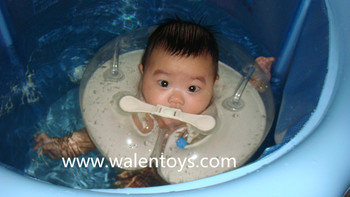 Kids Air Inflation Swim Neck Ring Bath Baby-swimming Circle Float ...