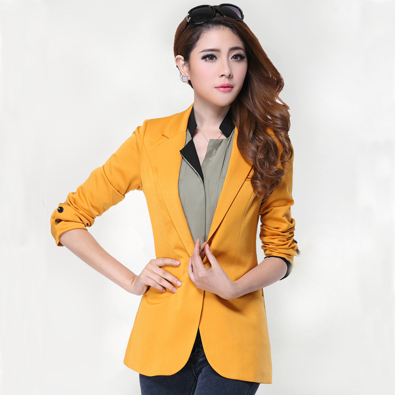 3925ca5852d7b Get Quotations · free shipping xl~3xl 4xl 5xl plus size women yellow blazer    suits for women