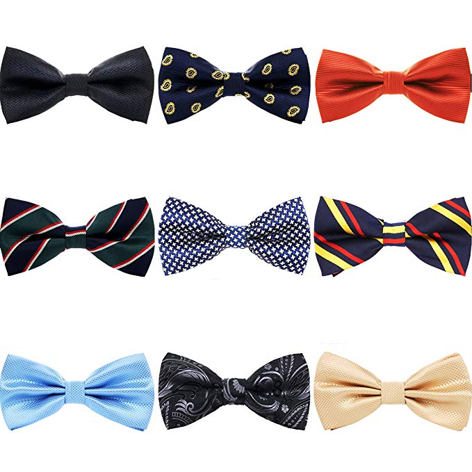 Fashion Colorful Silk Wedding Polka Dot Bow And Tie For Men With Box