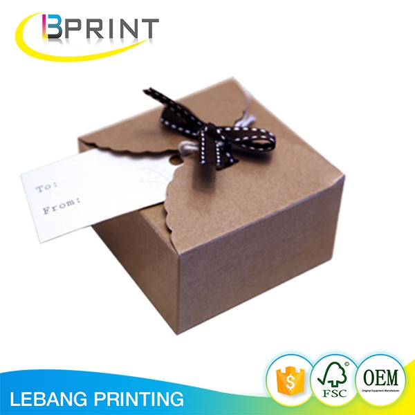 Decorative foldable recycled Natural brown corrugated board packaging box