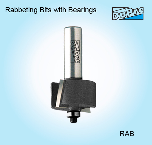 1/2' Shank Rabbeting Bit with Bearing