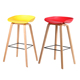 Customized Indoor Colored plastic Wooden Leisure Chair