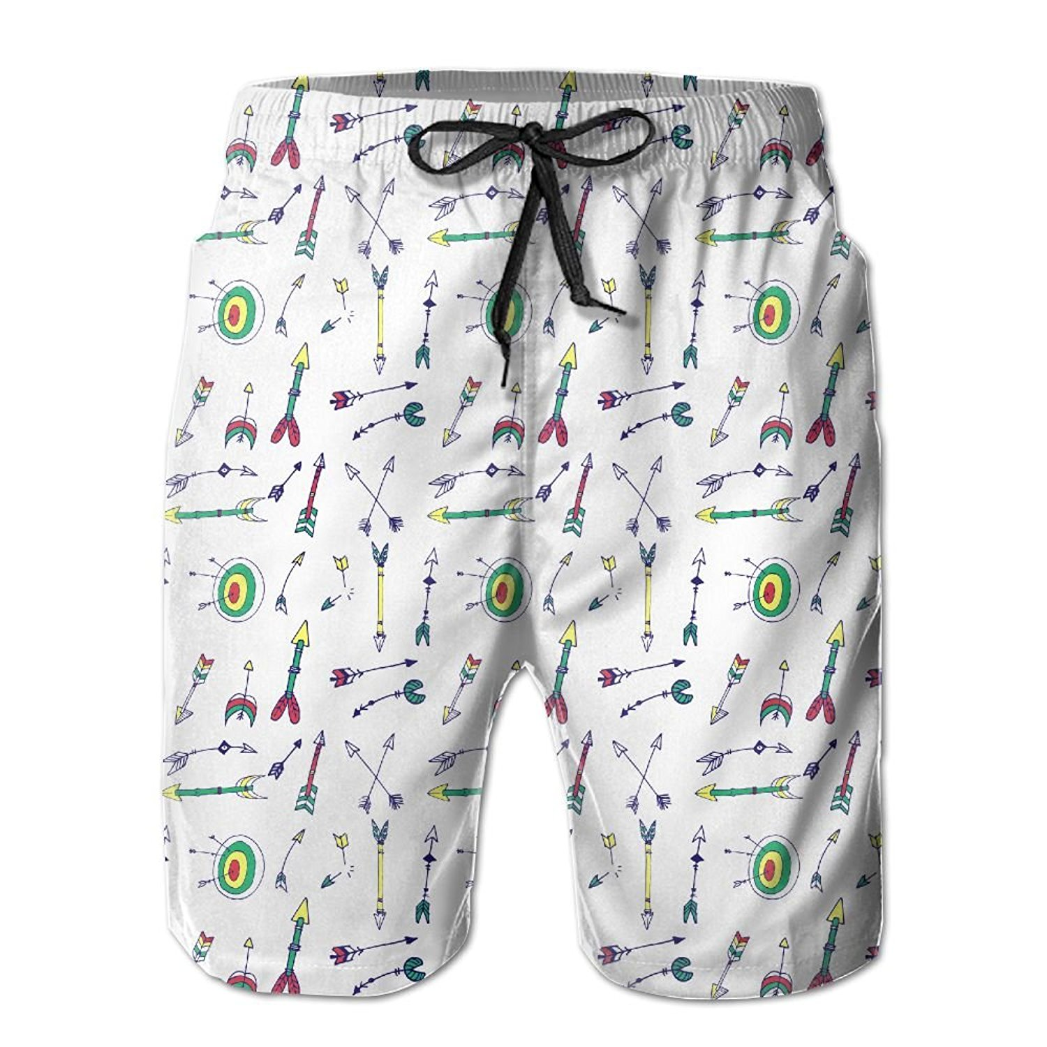 Mens Swim Trunks Quick Dry Bicycle Gang New York Beach Board Shorts Swimming Short with Pockets
