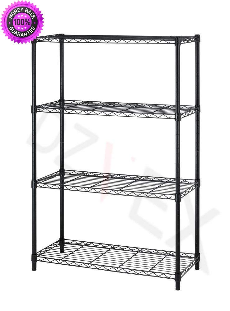 "DzVeX 36"" x14 x 54 4 Tier Layer Shelf Adjustable Steel Wire Metal Shelving Rack T54 And heavy duty industrial shelving storage shelves metal storage racks industrial shelving units metal shelving"