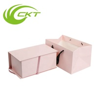 Custom Logo Printed Luxury Foldable Cardboard Paper Packing Magnetic Flat Pack Gift Box
