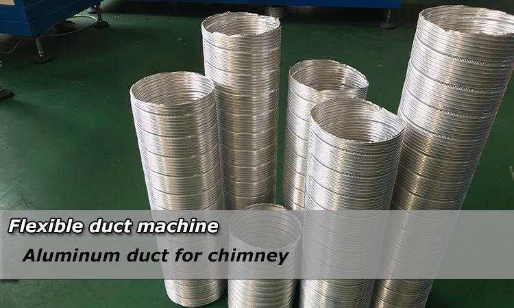 Spiral fleksibel aluminium pipa mesin nggawe Pabrik