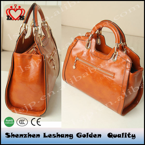 wholesale look a like designer handbags& the imported oil wax leather handbag,Portable swagger bag of Support paypal payments.