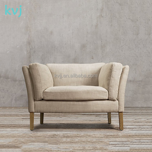 KVJ-7607-1french style lazy TV wooden fabric sofa chair