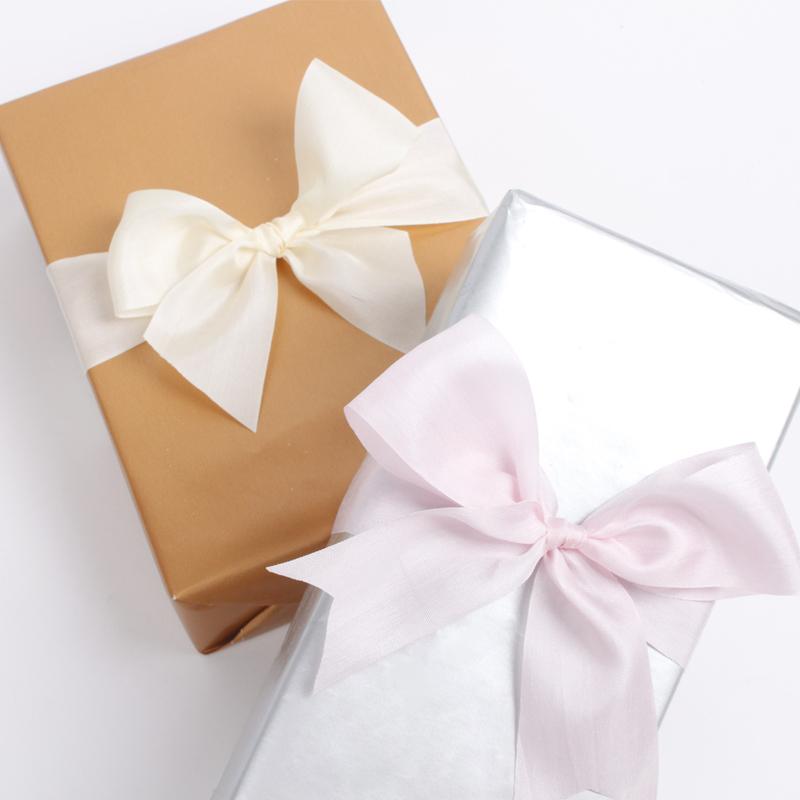 Flower wrapping decor 100% pure blush pink color silk chiffon ribbon silk ribbon