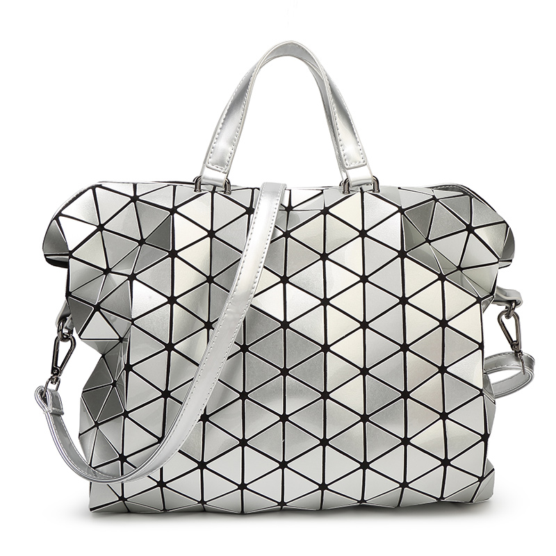 Get Quotations · 2015 New Women Fashion Laser BAOBAO Bag Geometry Package  Sequins Saser Plain Folding Handbags briefcase Shoulder e121551465db1