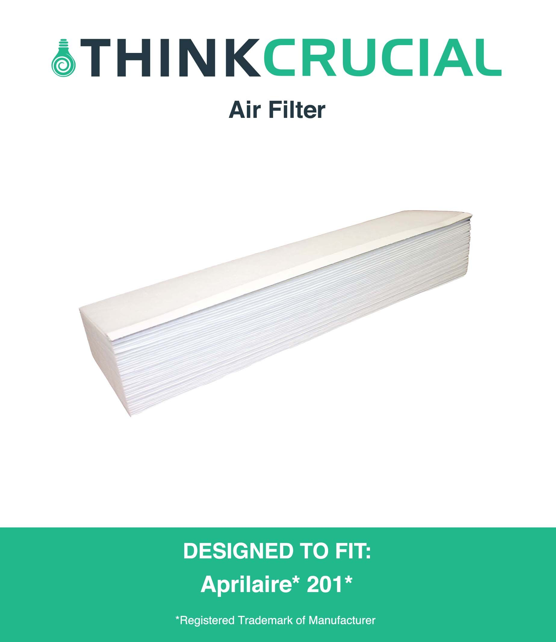 Compatible Replacement for Aprilaire 201 Air Filter Fits Space-Gard 2250 & 2200, by Think Crucial