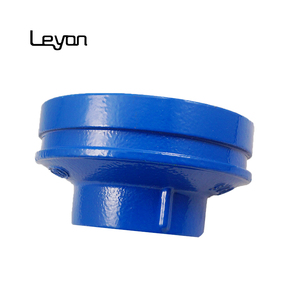 200mm ductile iron pipes fittings grooved reducer blue epoxy painting tube connectors ductile iron fittings