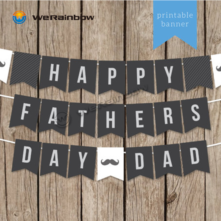 photograph about Happy Father's Day Banner Printable titled Delighted Moms Working day Bunting Letter Paper String Flag Birthday Occasion Decorations Banner - Invest in Occasion Banners,Satisfied Birthday Banner Vibrant Bunting