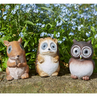 Resin night owl figures miniature figurine for mini fairy garden animal statue