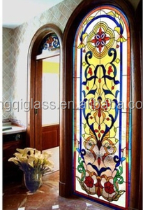 Tiffany stained glass door