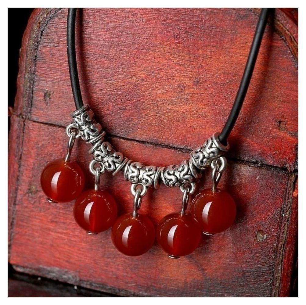 Women Retro Boho Gypsy Ethnic Tribal Retro Coin Necklace Dance Bohemian Festival Color:red