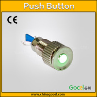 12mm with green LED dot light switch micro stainless steel signal lamp 2 pin push button GQ12T-D/J/S