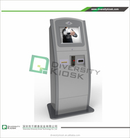 carpark ticket kiosk machine 1500 cd/m2 outdoor lcd ad players standing kiosk with lcd screen