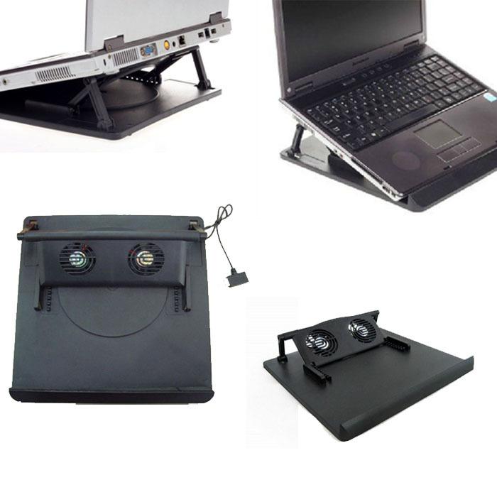 Мода 2 вентилятора USB порт охлаждения кулер для 14' 15.6 ' 17' дюймовые ноутбуки ноутбук энн