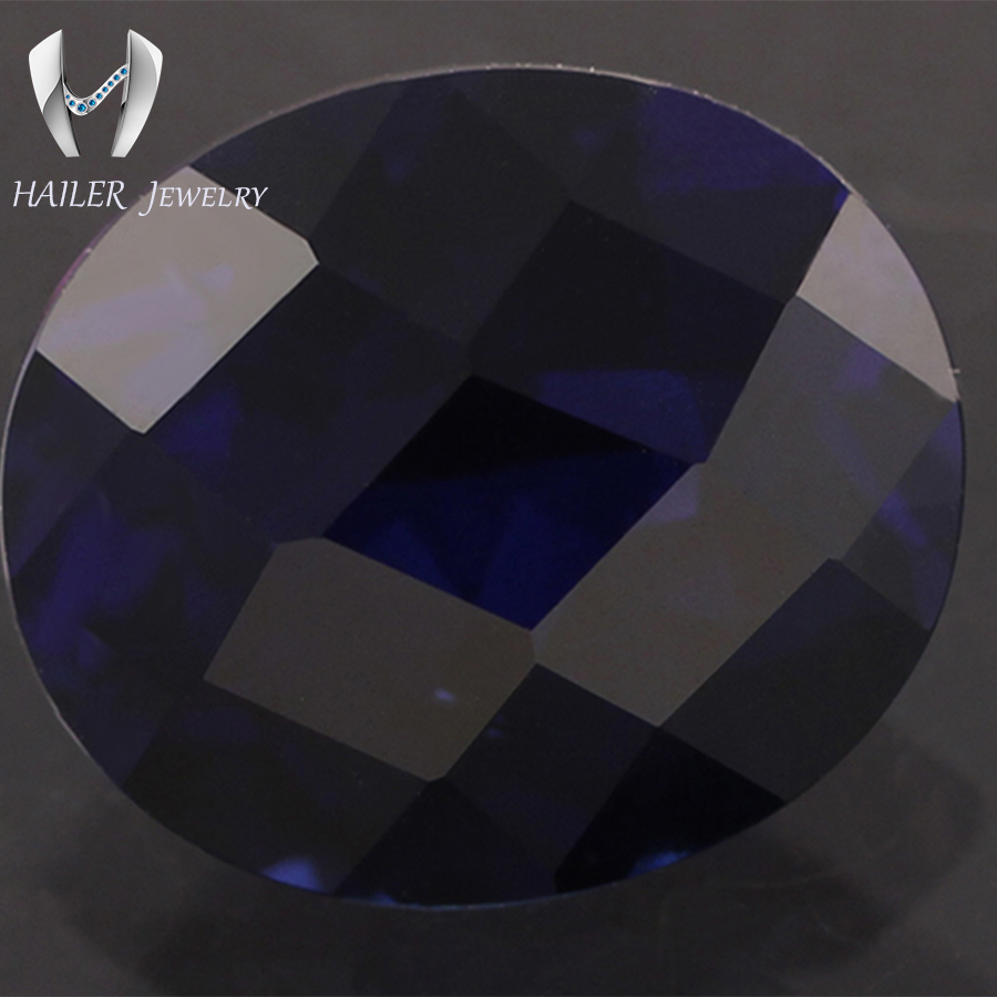 blue decoration gemstones sapphire diy gemstone jewelry product loose artificial diamond making