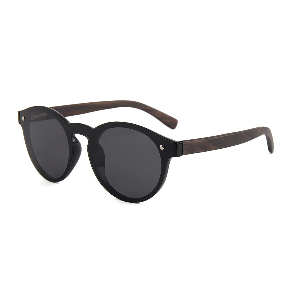 High end cool new trend one piece wooden sunglasses lenses polarized shades sunglasses